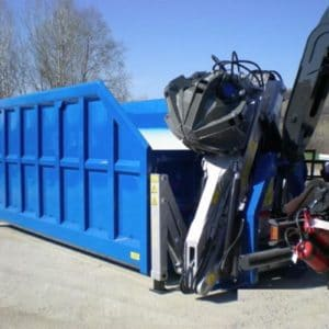 Hooklift Bin with Grab Loading System