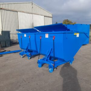 Forklift Skips with Casters and Lockable Doors
