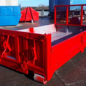Roll On / Roll Off Skip with Drop Down Sides and Tar Shoots
